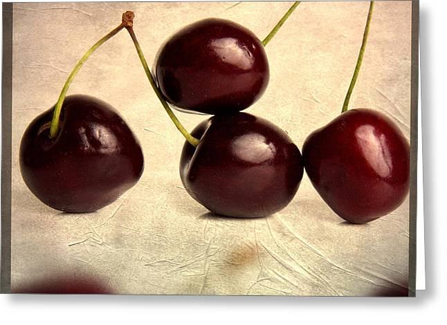 Cherries Greeting Card by Bernard Jaubert