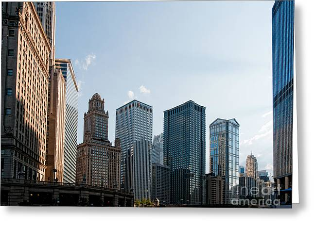 Chicago City Center Greeting Card by Carol Ailles