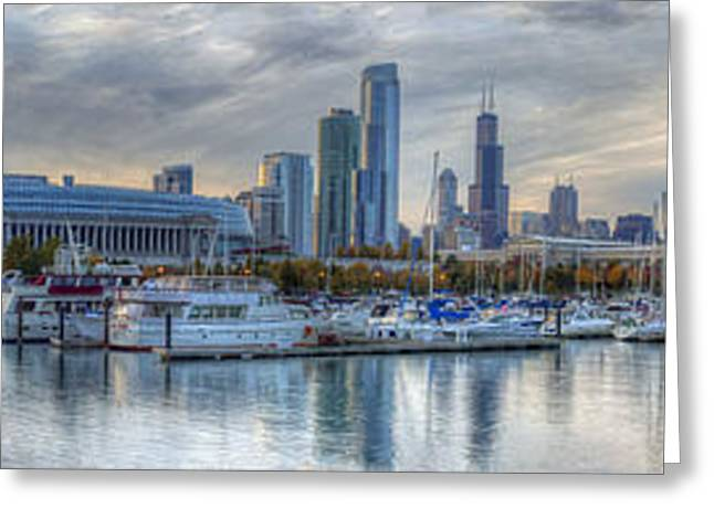 Chicago From Burnham Harbor Greeting Card