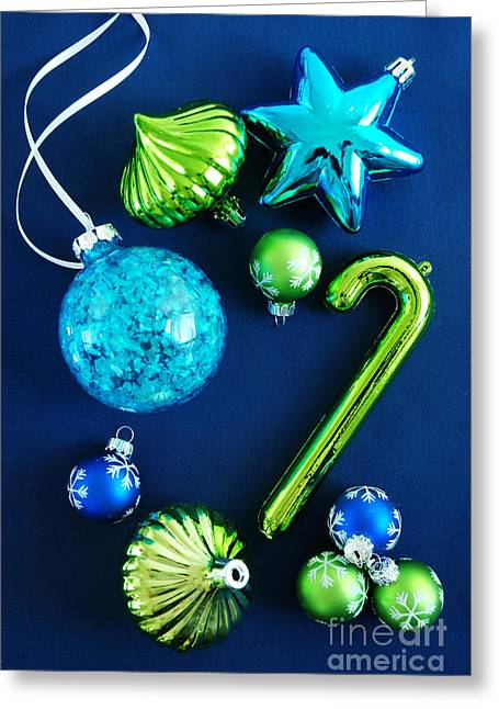 Silver ribbon greeting cards fine art america christmas ornaments greeting card m4hsunfo