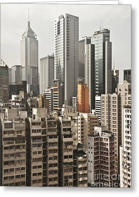 City Skyline Greeting Card by Jacobs Stock Photography