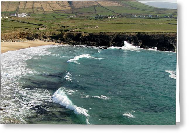 Greeting Card featuring the photograph Clogher Beach by Barbara Walsh