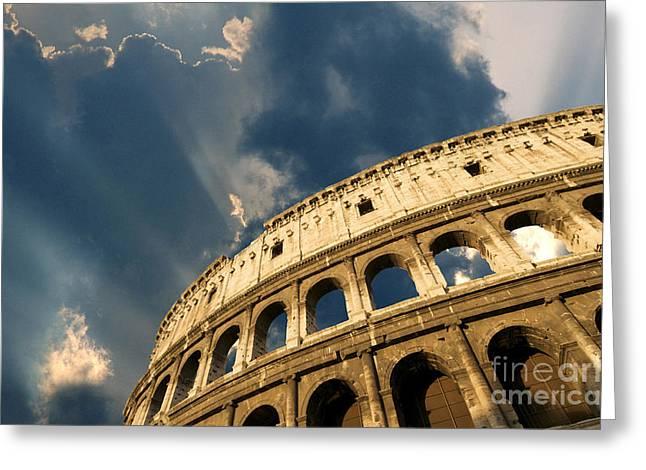 Coliseum. Rome. Lazio. Italy. Europe Greeting Card