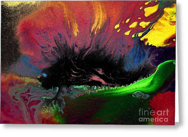 Colorful Water Color Painting Greeting Card by Sumit Mehndiratta