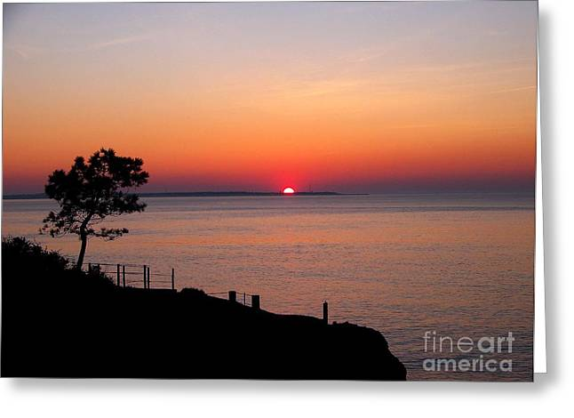 Greeting Card featuring the photograph Coucher De Soleil by Sylvie Leandre