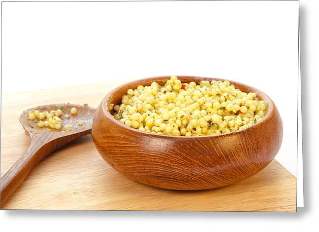 Cous Cous Salad Greeting Card by Tom Gowanlock