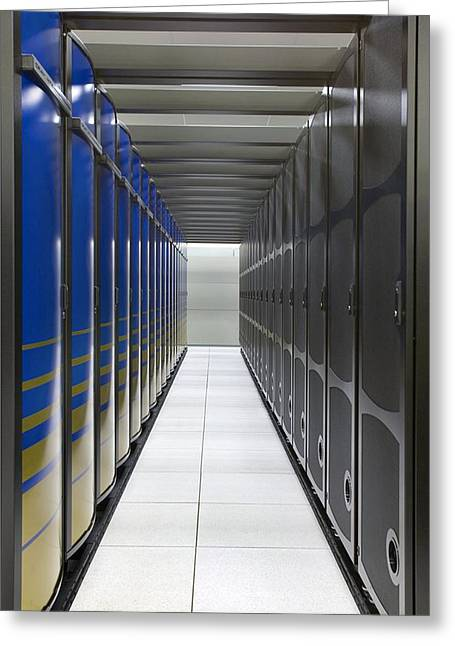 Cray Xt4 Supercomputer Cluster Greeting Card by Lawrence Berkeley National Laboratory