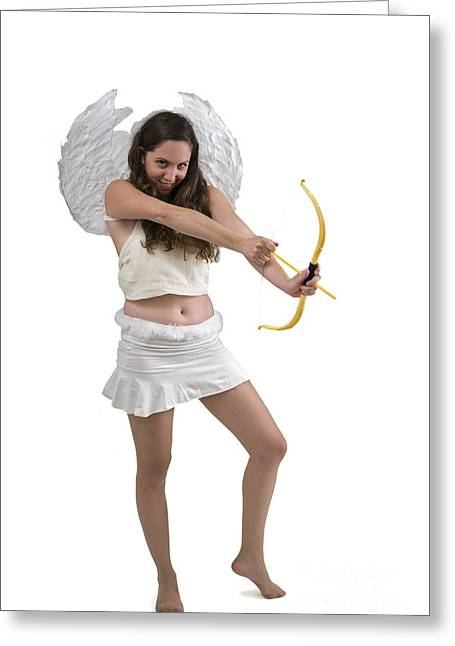 Cupid The God Of Desire Greeting Card by Ilan Rosen