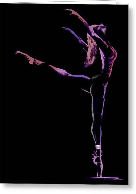 Dancer Greeting Card by Jose Luis Reyes