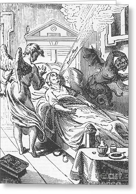 De Plancys Dictionnaire Infernal, 1835 Greeting Card by Science Source