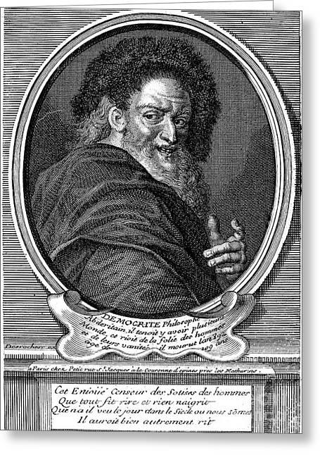 Democritus (c460-c370 B.c.) Greeting Card