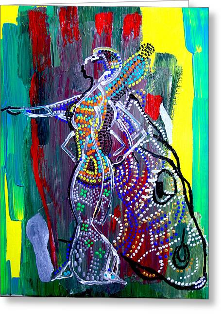 Dinka Lady - South Sudan Greeting Card by Gloria Ssali