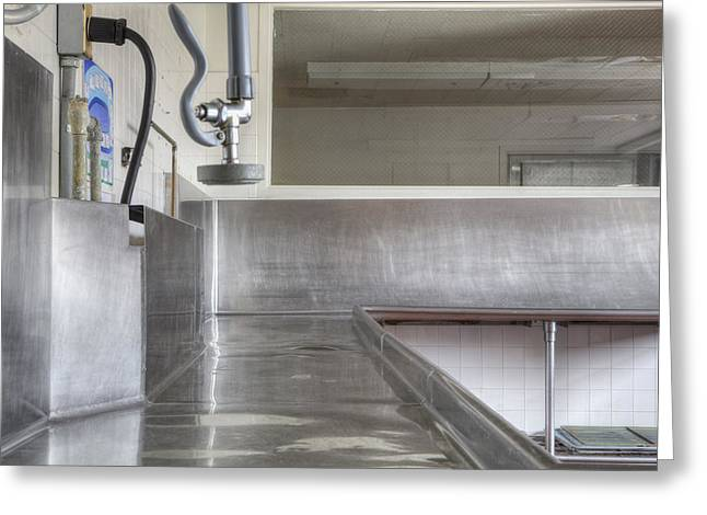 Dishwashing Station In Large Commercial Greeting Card