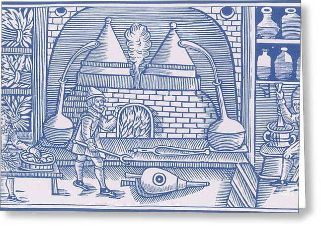 Distillation, Middle Ages Greeting Card by Science Source