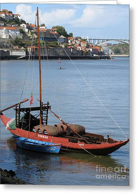 Greeting Card featuring the photograph Douro River by Arlene Carmel