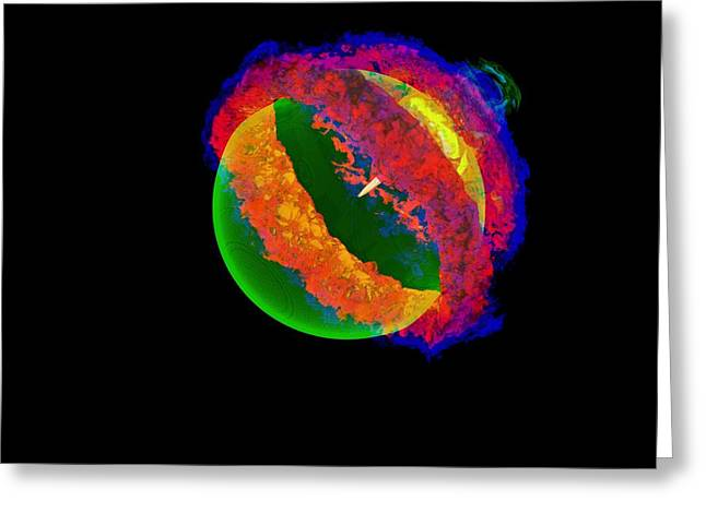 Exploding White Dwarf, 3d Simulation Greeting Card by The Flash Centeruniversity Of Chicago