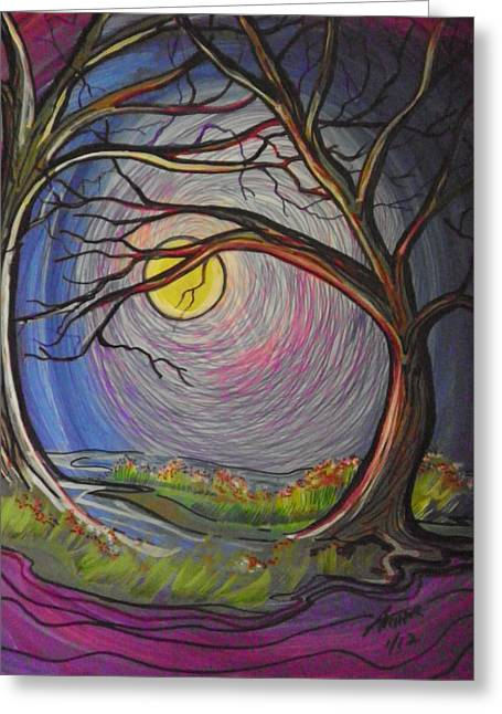 Fine Lines Of Dusk Greeting Card