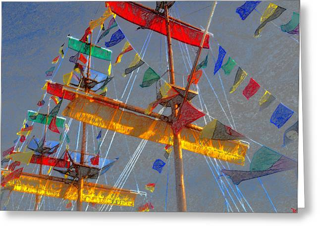 Flags Of Gasparilla Greeting Card