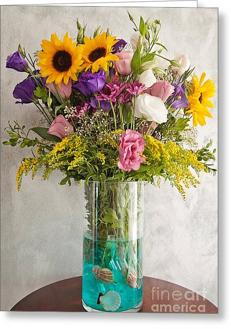 Flowers Greeting Card by Hulya Ozkok