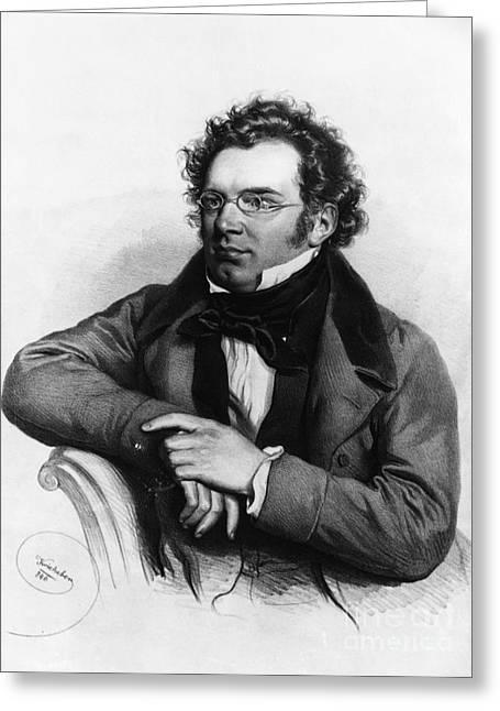 Franz Peter Schubert, Austrian Composer Greeting Card by Omikron