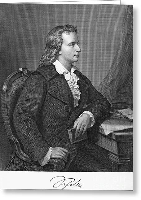 Friedrich Schiller Greeting Card by Granger