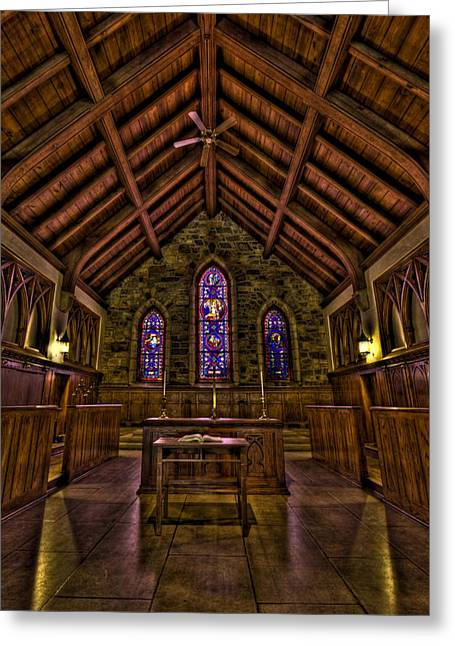 Frost Chapel Hdr Greeting Card by Jason Blalock