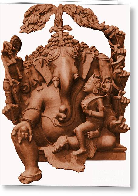 Ganesha, Hindu God Greeting Card by Photo Researchers