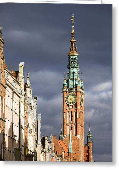 Gdansk Old Town Greeting Card