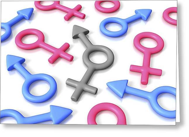 Gender Identity, Conceptual Artwork Greeting Card by David Mack