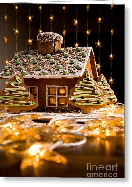 Gingerbread House Greeting Card by Kati Molin