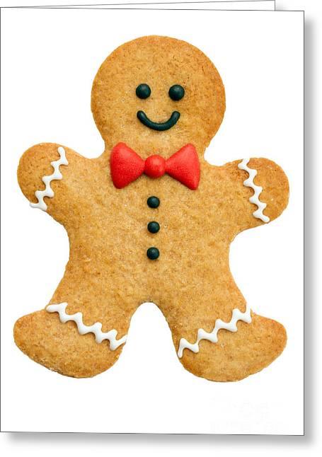 Gingerbread Man Greeting Card