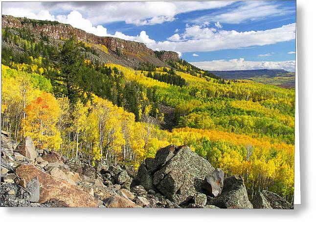 Grand Mesa Autumn Vista Greeting Card