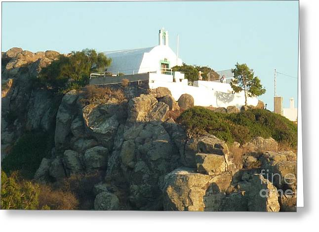 Greek Church Greeting Card by Therese Alcorn