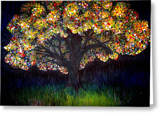 Gumball Tree 0001 Greeting Card