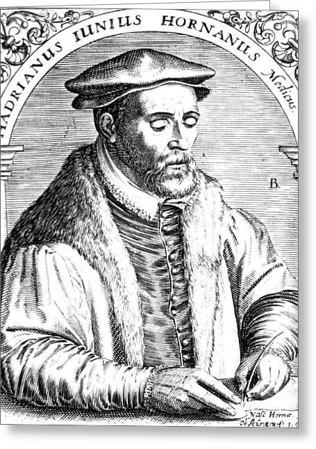 Hadrianus Junius, Dutch Physican Greeting Card