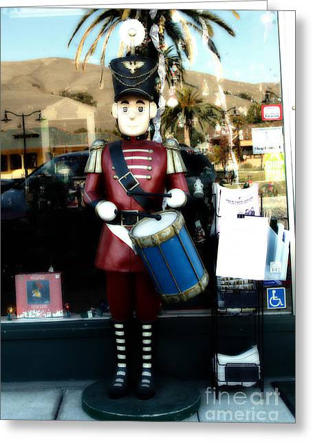 Historic Niles District In California Near Fremont . Little Drumer Boy At The Vine . 7d10691 Greeting Card by Wingsdomain Art and Photography