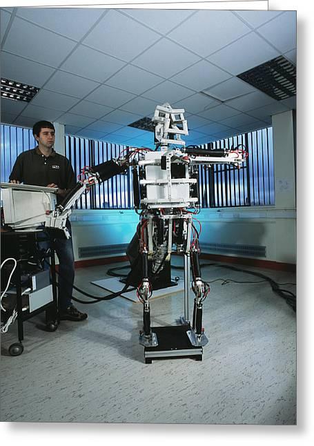 Humanoid Robot Greeting Card