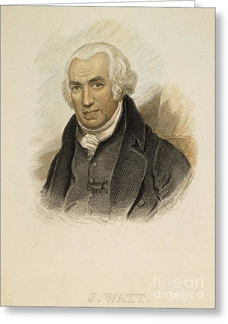 James Watt (1736-1819) Greeting Card by Granger