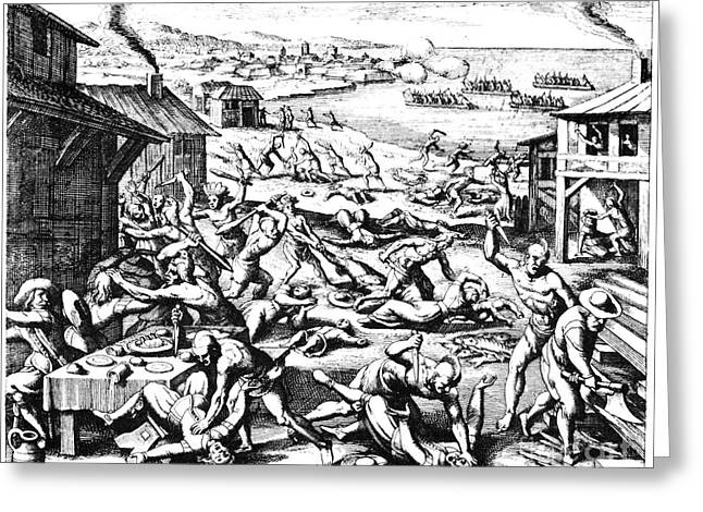 Jamestown: Massacre, 1622 Greeting Card by Granger