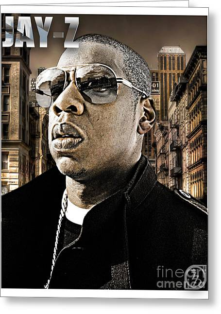Jay Z Greeting Card by The DigArtisT