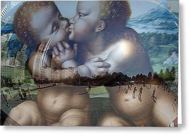 Jesus And John Greeting Card