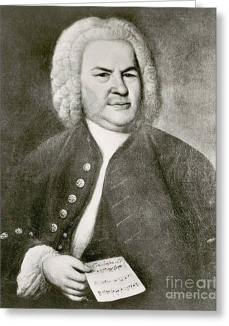 Johann Sebastian Bach, German Baroque Greeting Card by Photo Researchers