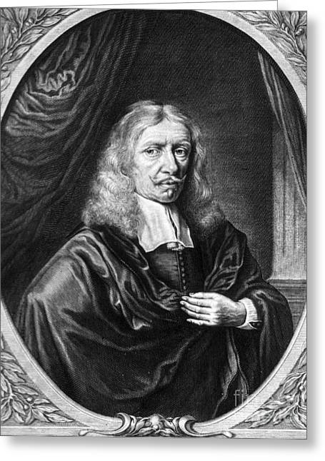 Johannes Hevelius, Polish Astronomer Greeting Card by Science Source