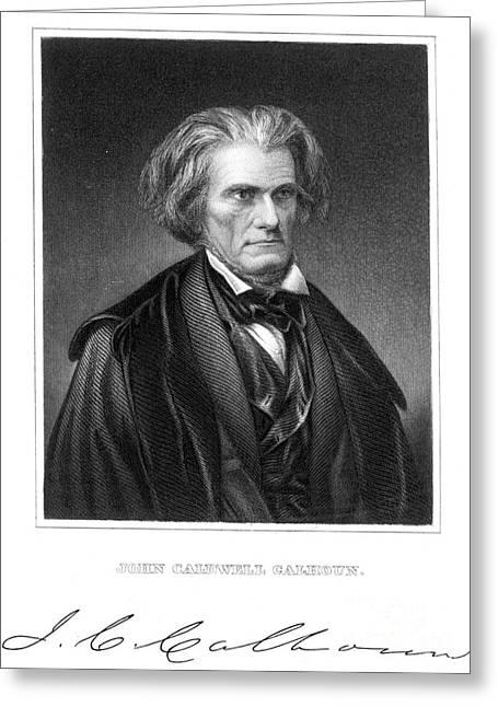 John C. Calhoun (1782-1850) Greeting Card by Granger