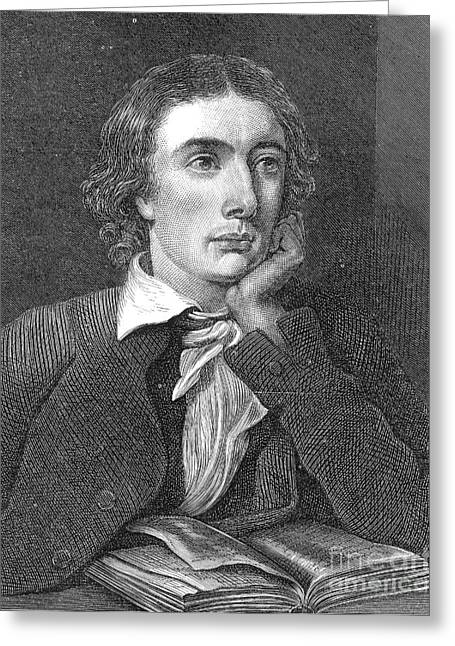 John Keats, English Romantic Poet Greeting Card by Photo Researchers