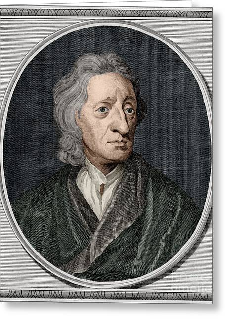 John Locke, English Philosopher Greeting Card by Science Source