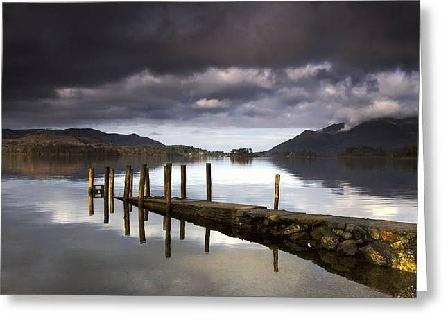 Lake Derwent, Cumbria, England Greeting Card by John Short
