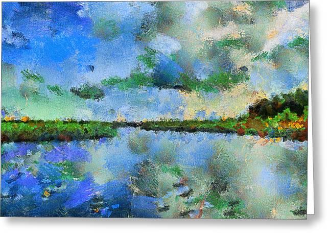 Lake View Greeting Card by Yury Malkov