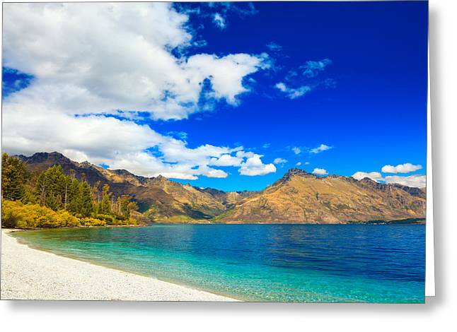 Lake Wakatipu Greeting Card by MotHaiBaPhoto Prints
