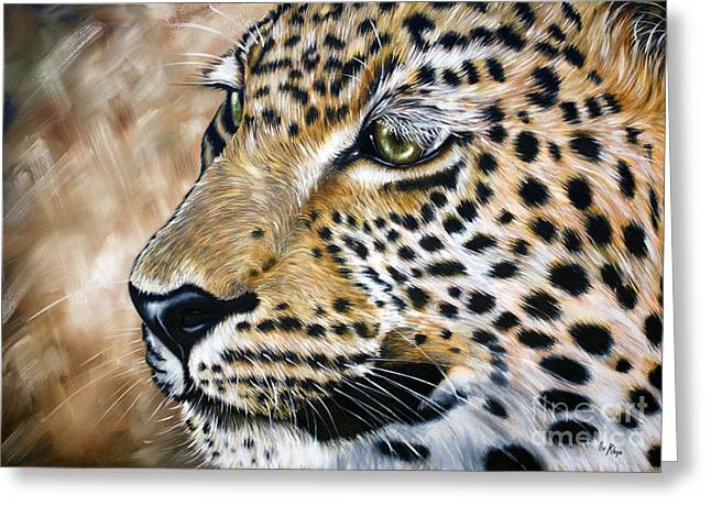 Leopard Greeting Card by Ilse Kleyn